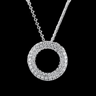Brogle Selection Halskette mit Anhänger Statement Kreis 4A763W8-8