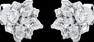 Ohrstecker Brogle Selection Statement aus 750 Weißgold mit 34 Diamanten (2 x 0,97 Karat)