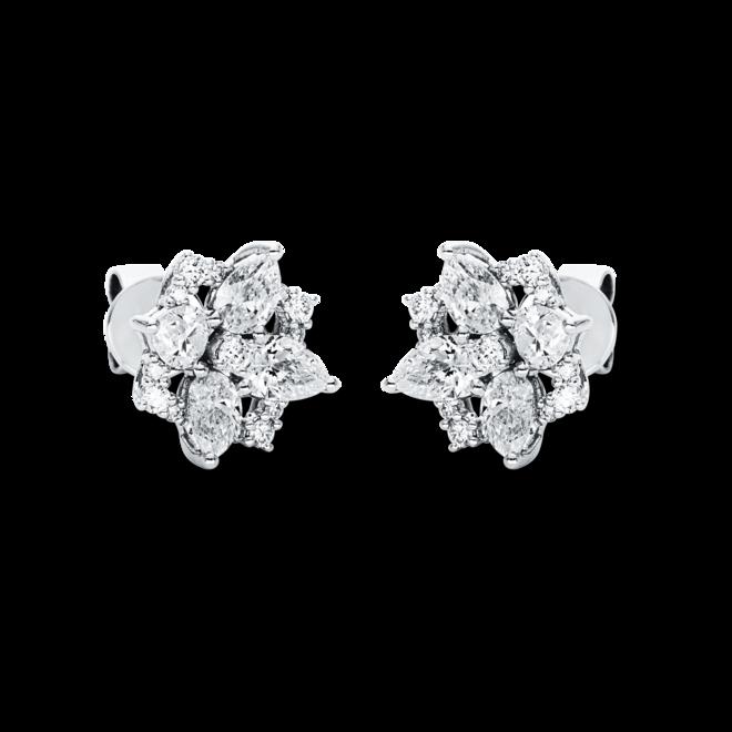 Ohrstecker Brogle Selection Statement aus 750 Weißgold mit 34 Diamanten (2 x 0,97 Karat) bei Brogle