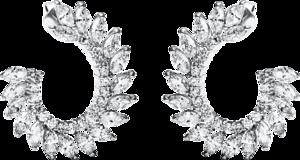 Ohrstecker Brogle Selection Statement aus 750 Weißgold mit 72 Diamanten (2 x 2,105 Karat)