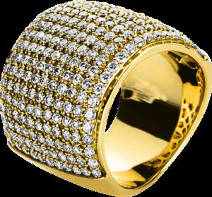 Ring Brogle Selection Statement aus 585 Gelbgold mit mehreren Diamanten (3,17 Karat)