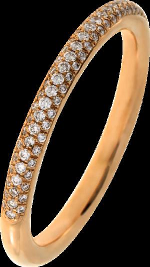 Ring Brogle Selection Statement aus 750 Roségold mit 82 Brillanten (0,19 Karat)