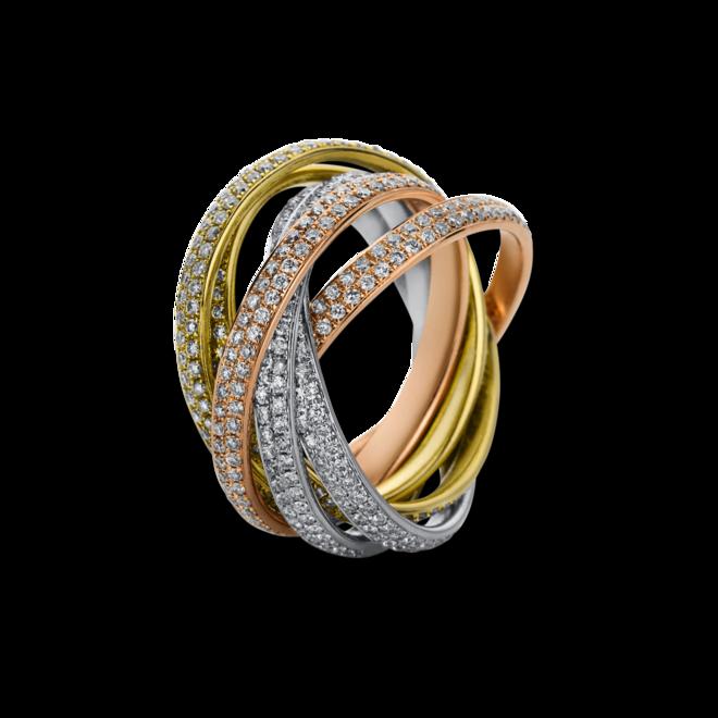 Ring Brogle Selection Statement aus 750 Weißgold, 750 Gelbgold und 750 Roségold mit 672 Brillanten (4,16 Karat) bei Brogle