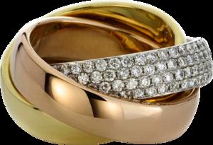 Ring Brogle Selection Statement aus 750 Weißgold, 750 Gelbgold und 750 Roségold mit 180 Brillanten (2,69 Karat)