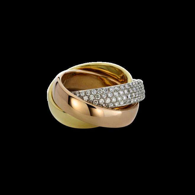 Ring Brogle Selection Statement aus 750 Weißgold, 750 Gelbgold und 750 Roségold mit 180 Brillanten (2,69 Karat) bei Brogle