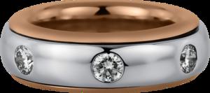 Ring Brogle Selection Statement aus 750 Roségold und 750 Weißgold mit 7 Brillanten (1,57 Karat)