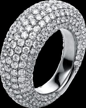 Ring Brogle Selection Statement aus 750 Weißgold mit 329 Brillanten (6,39 Karat)
