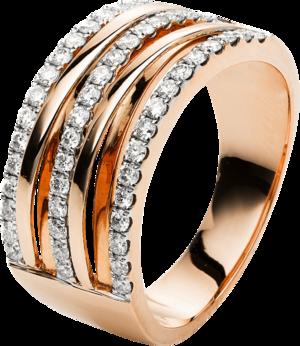 Ring Brogle Selection Statement aus 750 Roségold mit 49 Brillanten (0,6 Karat)