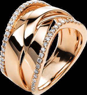 Ring Brogle Selection Statement aus 750 Roségold mit 42 Brillanten (0,38 Karat)