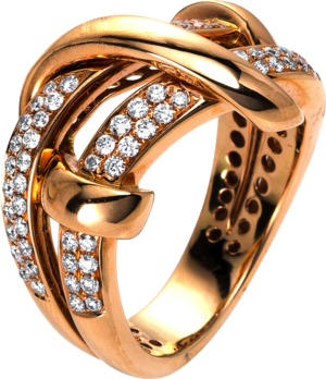 Ring Brogle Selection Statement aus 750 Roségold mit 78 Brillanten (0,69 Karat)