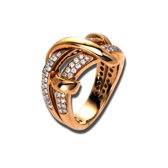 Ring Brogle Selection Statement aus 750 Roségold mit 78 Brillanten (0,69 Karat) bei Brogle