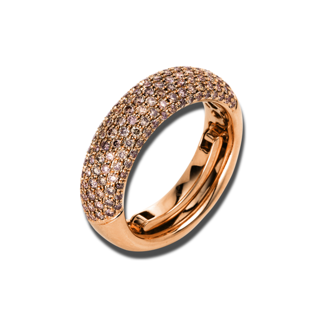 Ring Brogle Selection Statement aus 750 Roségold mit 133 Brillanten (1,09 Karat) bei Brogle