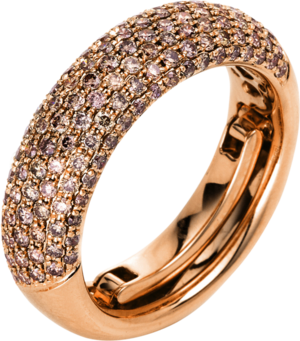 Ring Brogle Selection Statement aus 750 Roségold mit 133 Brillanten (1,09 Karat)