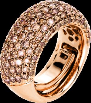 Ring Brogle Selection Statement aus 750 Roségold mit 119 Brillanten (3,01 Karat)