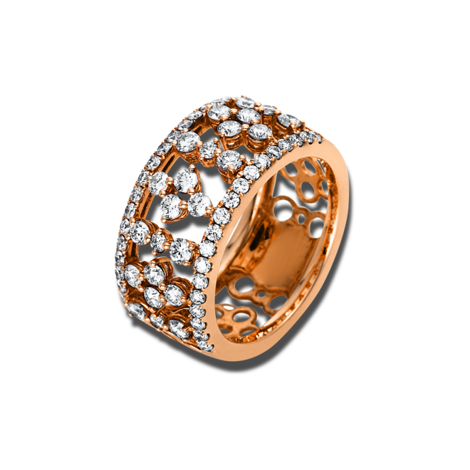 Ring Brogle Selection Statement aus 750 Roségold mit 62 Brillanten (1,24 Karat) bei Brogle