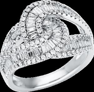 Ring Brogle Selection Statement aus 750 Weißgold mit 221 Brillanten (1,55 Karat)