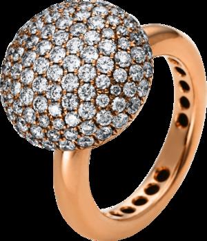 Ring Brogle Selection Statement aus 750 Roségold mit 109 Brillanten (2,05 Karat)