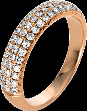 Ring Brogle Selection Statement aus 750 Roségold mit 51 Brillanten (0,5 Karat)