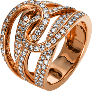 Ring Brogle Selection Statement aus 750 Roségold mit 140 Brillanten (1,6 Karat)