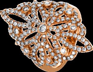 Ring Brogle Selection Statement aus 750 Roségold mit 157 Brillanten (1,38 Karat)