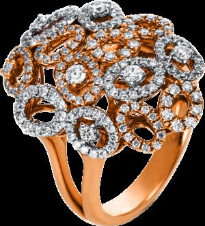 Ring Brogle Selection Statement aus 750 Weißgold und 750 Roségold mit 163 Brillanten (0,97 Karat)