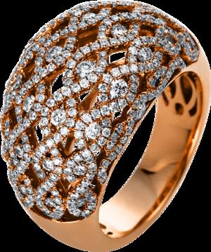 Ring Brogle Selection Statement aus 750 Roségold mit 366 Brillanten (1,52 Karat)