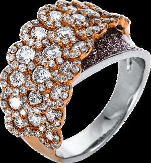 Ring Brogle Selection Statement aus 750 Weißgold und 750 Roségold mit 257 Brillanten (2,73 Karat)