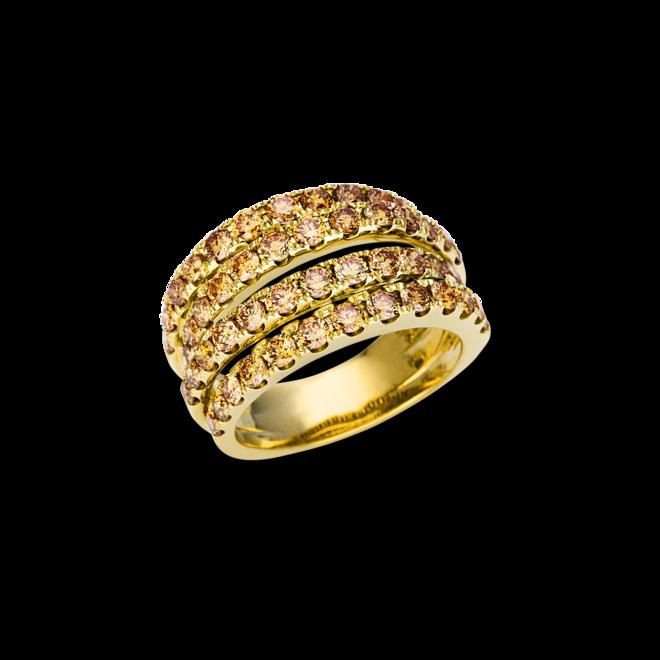 Ring Brogle Selection Statement aus 585 Gelbgold mit 52 Brillanten (2,45 Karat) bei Brogle