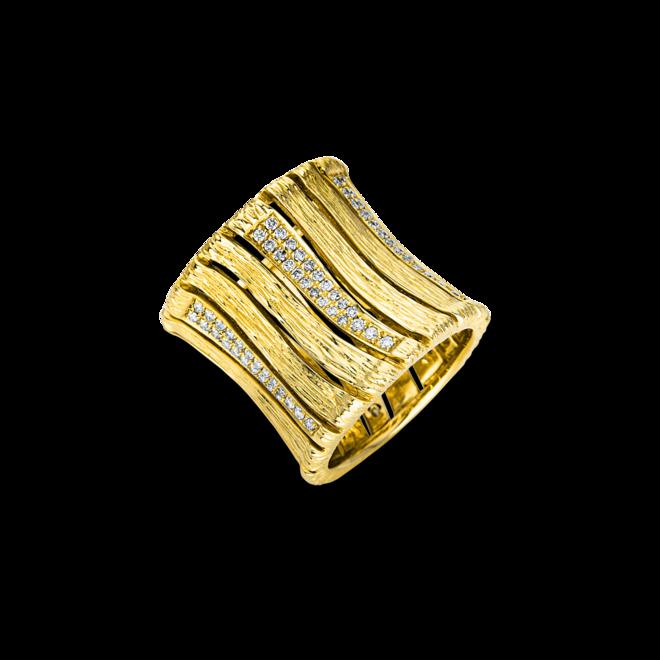 Ring Brogle Selection Statement aus 750 Gelbgold mit 138 Brillanten (0,8 Karat) bei Brogle