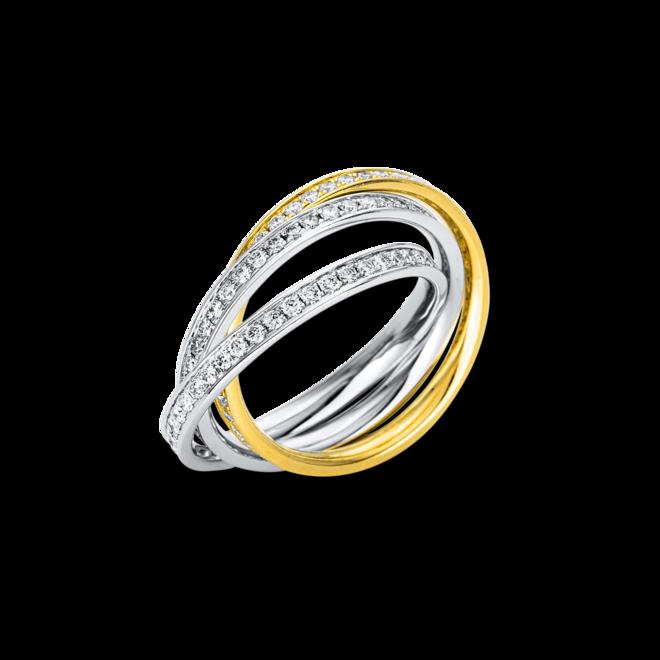 Ring Brogle Selection Statement aus 750 Weißgold und 750 Gelbgold mit 135 Brillanten (1,17 Karat) bei Brogle