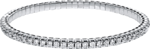 Armband Brogle Selection Timeless Flex aus 750 Weißgold mit 65 Brillanten (4,88 Karat)