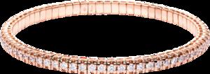 Armband Brogle Selection Timeless Flex aus 750 Roségold mit 70 Brillanten (3,27 Karat) Größe 20 cm