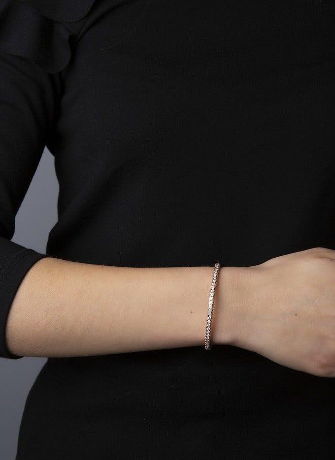 Armband Brogle Selection Timeless Flex aus 750 Roségold mit 70 Brillanten (3,27 Karat) Größe 20 cm bei Brogle