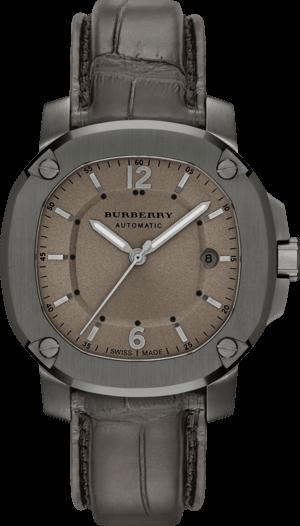 Herrenuhr Burberry The Britain Automatik 43mm mit braunem Zifferblatt und Alligatorenleder-Armband