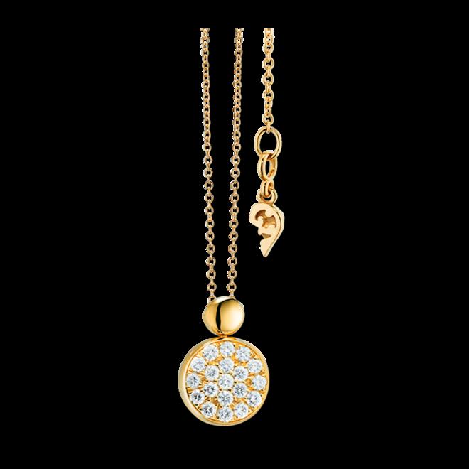 Halskette mit Anhänger Capolavoro Dolcini aus 750 Gelbgold mit 19 Brillanten (0,1 Karat) bei Brogle