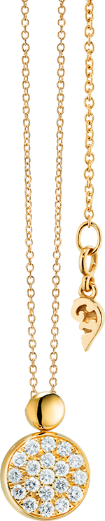 Halskette mit Anhänger Capolavoro Dolcini aus 750 Gelbgold mit 19 Brillanten (0,1 Karat)