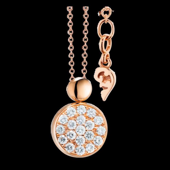 Halskette mit Anhänger Capolavoro Dolcini aus 750 Roségold mit 19 Brillanten (0,1 Karat) bei Brogle