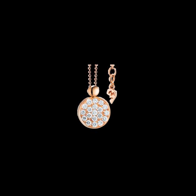 Halskette mit Anhänger Capolavoro Dolcini aus 750 Roségold mit 19 Brillanten (0,3 Karat) bei Brogle
