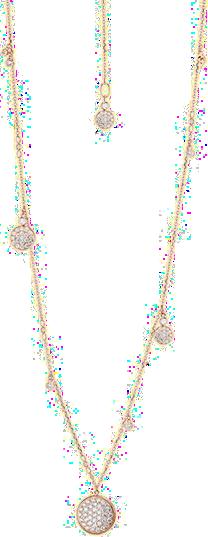 Halskette mit Anhänger Capolavoro Dolcini Highlight aus 750 Roségold mit mehreren Brillanten (1,4 Karat)
