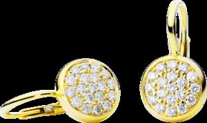 Ohrhänger Capolavoro Dolcini aus 750 Gelbgold mit 38 Brillanten (2 x 0,3 Karat)