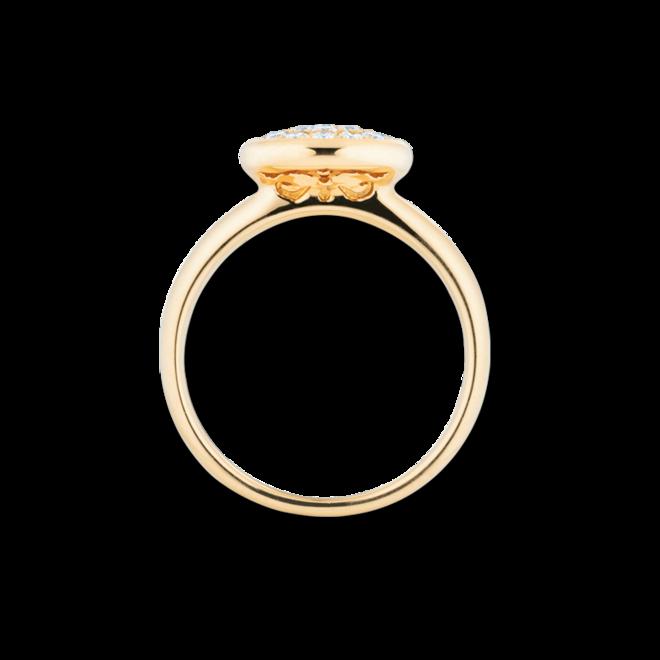 Ring Capolavoro Dolcini aus 750 Gelbgold mit 19 Brillanten (0,3 Karat) bei Brogle