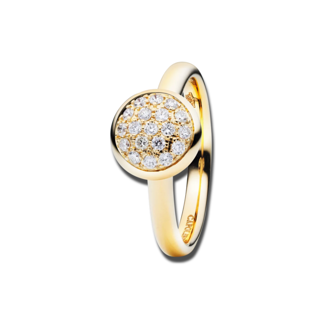 Ring Capolavoro Dolcini aus 750 Gelbgold mit 19 Brillanten (0,3 Karat)