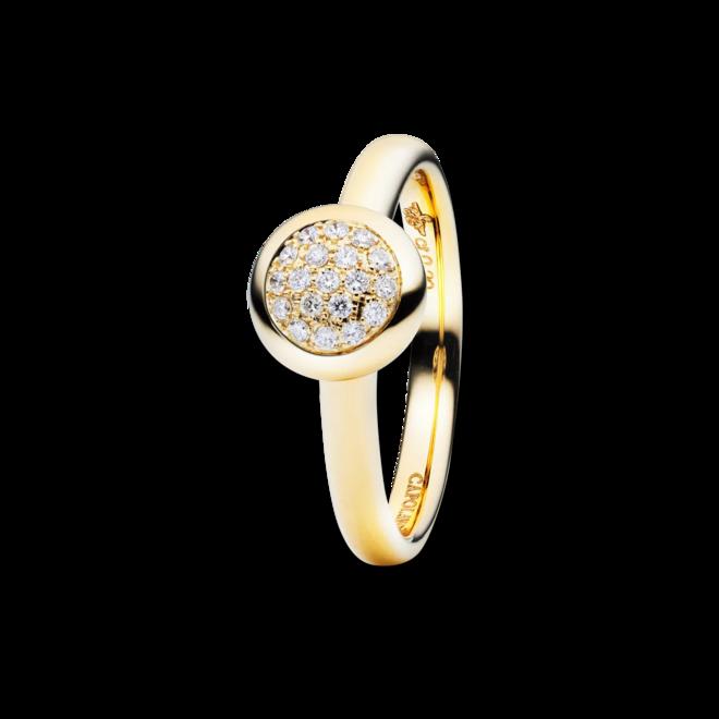 Ring Capolavoro Dolcini aus 750 Gelbgold mit 19 Brillanten (0,1 Karat)