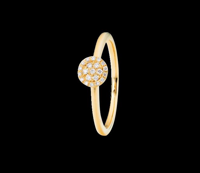 Ring Capolavoro Dolcini aus 750 Gelbgold mit 21 Brillanten (0,1 Karat) bei Brogle
