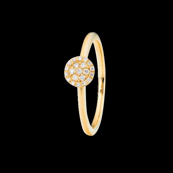 Ring Capolavoro Dolcini aus 750 Gelbgold mit 21 Brillanten (0,1 Karat)