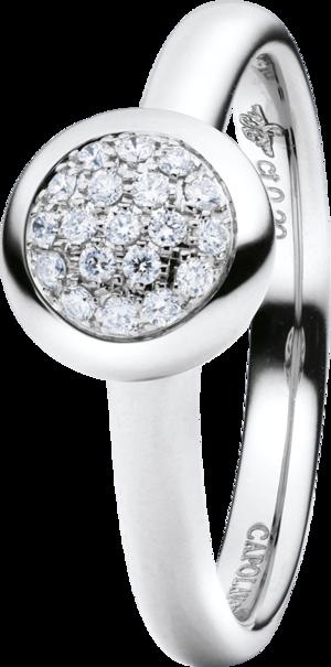 Ring Capolavoro Dolcini aus 750 Weißgold mit 19 Brillanten (0,1 Karat)