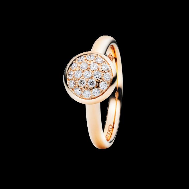Ring Capolavoro Dolcini aus 750 Roségold mit 19 Brillanten (0,3 Karat) bei Brogle