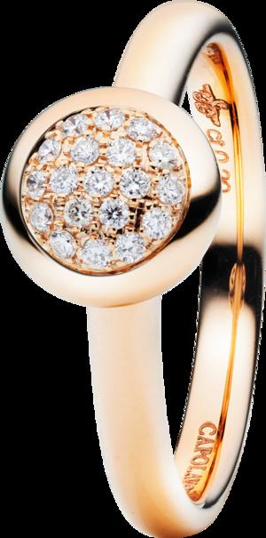 Ring Capolavoro Dolcini aus 750 Roségold mit 19 Brillanten (0,1 Karat)
