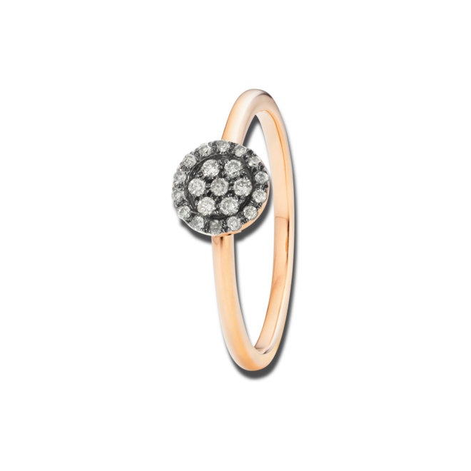 Ring Capolavoro Dolcini aus 750 Roségold mit 21 Brillanten (0,1 Karat) bei Brogle