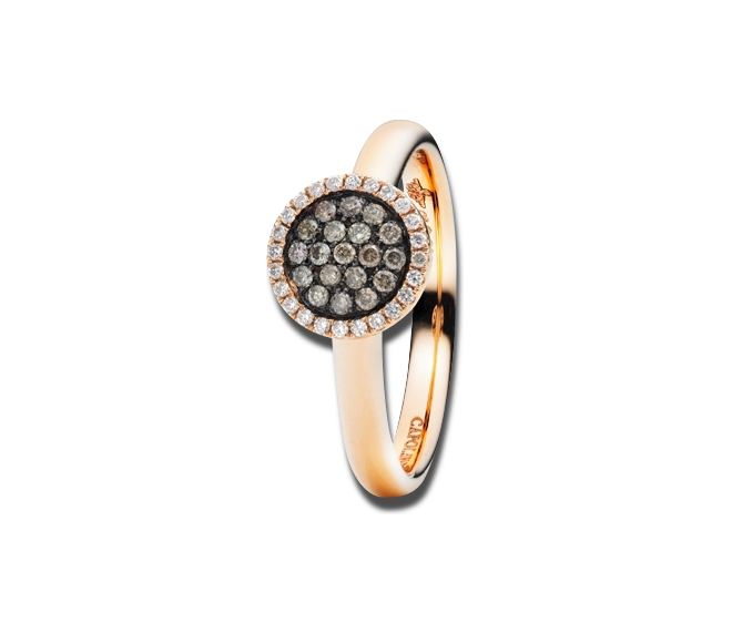Ring Capolavoro Dolcini aus 750 Roségold mit 43 Brillanten (0,23 Karat) bei Brogle
